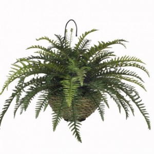 House-of-Silk-Flowers-Artificial-Boston-Fern-Hanging-Basket-0