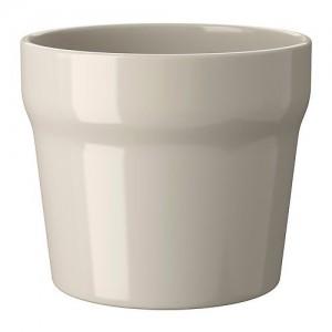 Ikea-Oradd-Ceramic-Beige-Flower-Plant-Pot-0