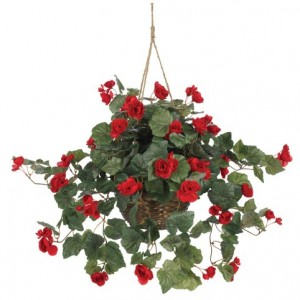 Nearly-Natural-6616-Begonia-Hanging-Basket-Red-0
